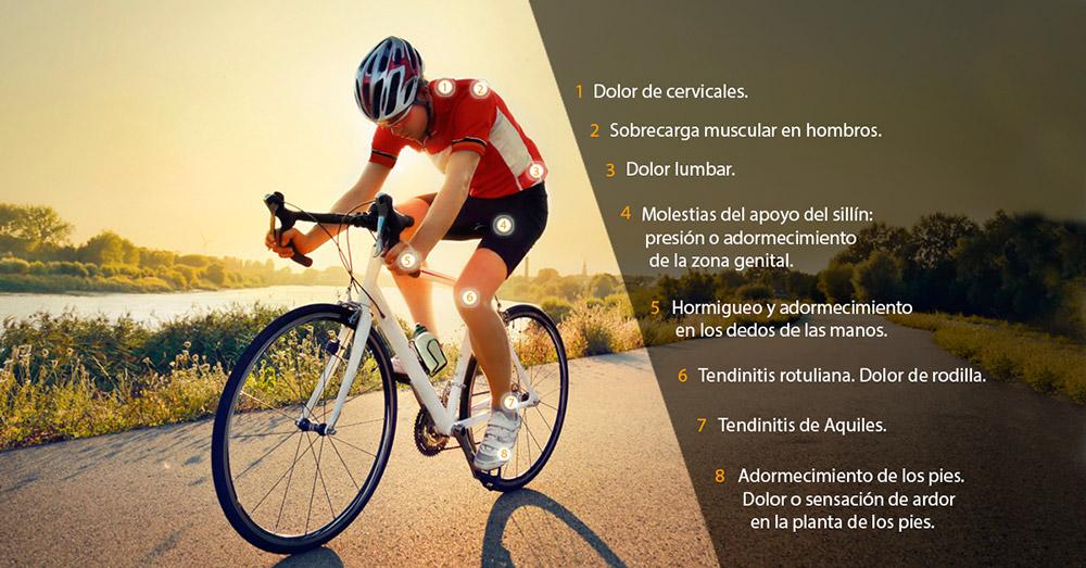 lesiones dolor ciclista